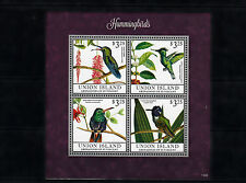 Union Island Grenadines St Vincent 2013 MNH Hummingbirds I 4v M/S Birds Mango