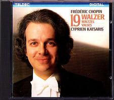 Cyprien Katsaris: CHOPIN 19 Valse Waltzes Valse Teldec CD 1984