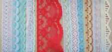 50 Metres Assorted Fabric Trimming Lace Trimming Red Pink Blue White Cream
