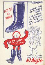 Buvard Vintage  Bottes de Travail à l'Aigle