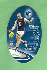 AFL 2009 RED FOOTY KICKERS TAZO #9 Chris Judd, Carlton Blues