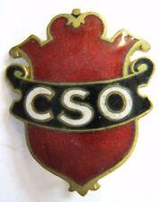 Insigne ancien FOOTBALL CSO Club Sportif de l'Ouest  authentique
