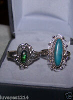 2 Vintage CHAD HOSKIE? CH INDIAN NAVAJO Native American Sterling Silver 925 RING