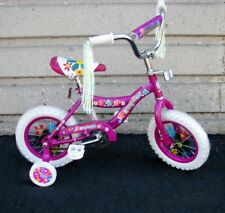 "12"" Girl's Purple Bike Training Wheels Foot Brake 3 to 5 Years Old"