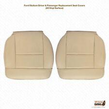 2004 Ford F150 Lariat DRIVER & PASSENGER Vinyl Seat Cover Light Parchment Tan