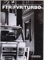 1988 ISUZU FVR & FTR TURBO SERIES 12-13 TONNE TRUCKAustralian GMH 12p Brochure
