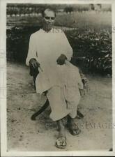 1932 Press Photo Moti Nehru, Indian Leader