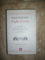 WALT WHITMAN - FOGLIE D'ERBA - TESTO INGLESE A FRONTE - ED:BUR - ANNO:2000 (RD)