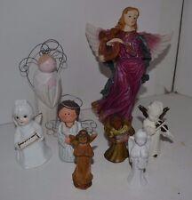 Outstanding Lot of 8 Angels Porcelain Wood Bone China Figure