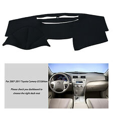 Fits For 2007-2011 TOYOTA CAMRY DASHMAT DASH COVER MAT DASHBOARD COVER BLACK