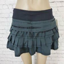 LULULEMON Black Back on Track Running Skirt 8 NEW