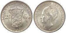 CURACAO 2-1/2 GULDEN 1944 D (KM#46) ARGENTO/SILVER #797a
