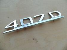 Typenschild Mercedes Benz Transporter L 407D Metall Typenemblem Düdo 407 D