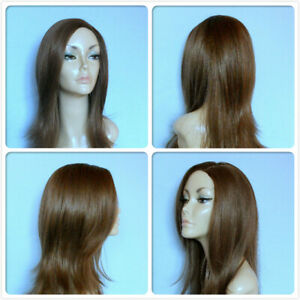 HIGH HEAT RESISTANT LONG LIGHT ASH BROWN DRAG QUEEN LADY WOMEN DAILY FULL WIG UK