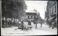 FRANCE~1900's PARAME ~ La Place de la Mairie ~ Market ~ Trolley ~ Hotel Central