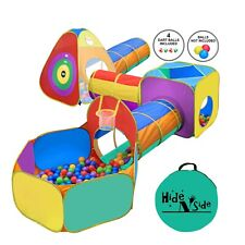 Hide N Side Kids Ball Pit Playz Basketball Tent Tunnel Toy &Bag! FAST EXP SHIP!!