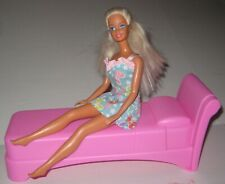 """Fashion Doll Twin Bed Bedroom Furniture  American Plastic Toys USA 10"""" x 3 1/2"""""""