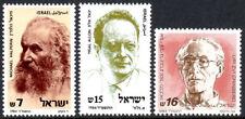 Israel 857-859, MNH.Helperin,Zionist;Allon,Military commander;Grinberg,Poet,1984