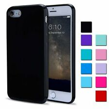 For iPhone 7 8 Ultra-Slim Rubber Gel Shockproof Soft Silicone Bumper Case Cover