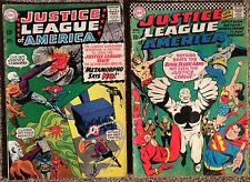 Justice League Of America #42 & #43 (1964 1St Series) VG- to VG/FN 49 Years Old.