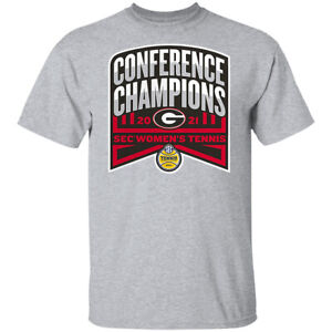 Georgia Bulldogs SEC Women's Tennis Conference Champions T-Shirt S-5XL