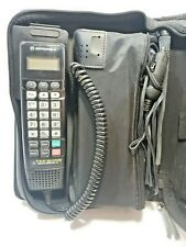 Vintage Motorola Mobile Car Phone - Complete Kit in Black Case With Manual