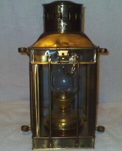 Vintage Neptune Nautical Ship Brass Oil Lamp