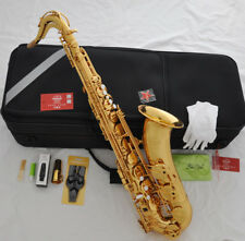 professional new taishan 7000# gold Bb tenor Saxophone Low B high F# with case