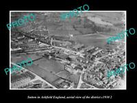 OLD 8x6 HISTORIC PHOTO SUTTON IN ASHFIELD ENGLAND DISTRICT AERIAL VIEW 1930 3