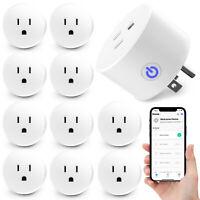 2 to 10 PCS Wifi Smart Plugs Sockets Outlets Switchs for Alexa/Google Home/IFTTT