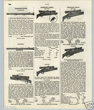 1951 53 PAPER AD Mossberg Weaver Rifle Telescope Sights Spec Sheet