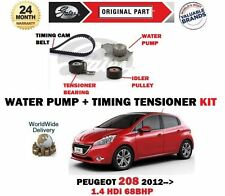 FOR PEUGEOT 208 1.4 HDi 68bhp DV4C 2012-> WATER PUMP + TIMING CAM TENSIONER KIT