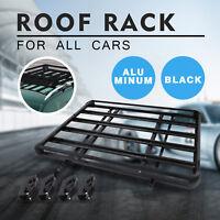 "Large Black Universal Aluminum Roof Rack Basket 160cm X100cm Black 63"" X 40"""