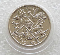 2016 Last Round Pound BU £1 One Pound Coin Uncirculated - Fifth Portrait