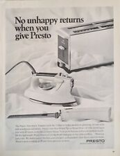 1968 Presto Small Appliances Toaster Steam Iron Electric Carving Knife Print Ad