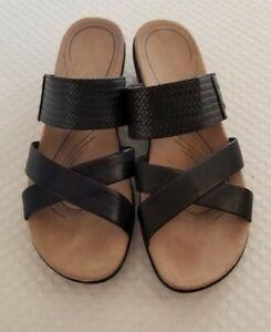 "Kim Rogers ""Naddy"" Size 11 M Ladies Black Strap Sandals"