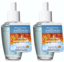 Bath & Body Works CRISP MORNING AIR Wallflower Fragrance Refill Bulb x 2 Lot