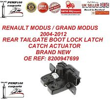 RENAULT MODUS 2004-2012 REAR TAILGATE BOOTLID  LOCK LATCH CATCH ACTUATOR  NEW