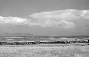 """1941 Freight Train in the Plains, Carter, Montana Old Photo 11"""" x 17"""" Reprint"""