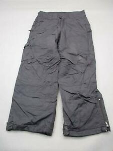 Columbia Size 14-16 Kids Black Athletic Fleece Lined Insulated Snow Pants T189