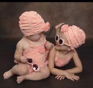 Girls Janie & Jack Poppy Garden Peach Sunglasses Used