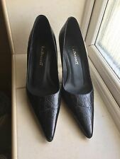 Lk Bennett Black Croc Leather Shoes  UK Size 3-never Worn!