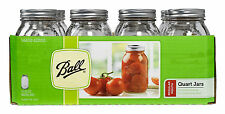 12 x Quart (1 Litre) Regular Mouth Ball Mason Jars and Lids BPA FREE