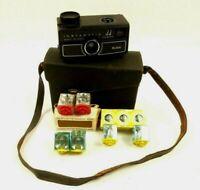 Vintage Kodak 44 Instamatic Camera w/ Case & Flash Bulbs Untested