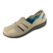 Clarks Cloudsteppers Sillian Storks Slip On Shoes Sandals Beige Size 6.5W EUC