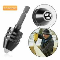 "1/4"" Keyless Chuck Conversion Shank Adapter Drill Bit Quick Change Driver"