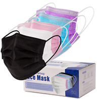 50 PCS Face Mask Mouth & Nose Protector Respirator Masks 5 Colors USA Seller