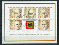 Bund Block 18 gestempelt ESST Bonn BRD 1156 - 1160 Bundespräsidenten used