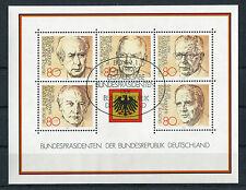 Bund Block 18 gestempelt ETSST Bonn BRD 1156 - 1160 Bundespräsidenten used