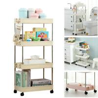 3/4 Tier Slide Out Kitchen Trolley Rack Holder Storage Shelf Organiser Removable